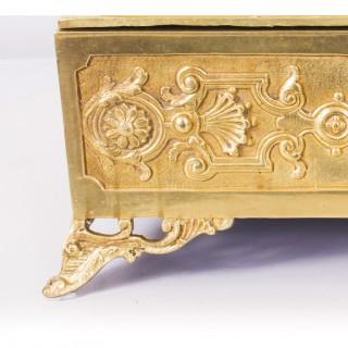 Antique Art Nouveau Ormolu & Minton Porcelain Casket C1890