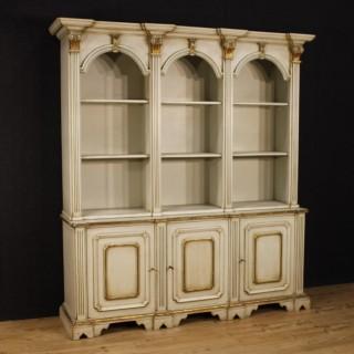 20th Century Italian Lacquered Bookcase