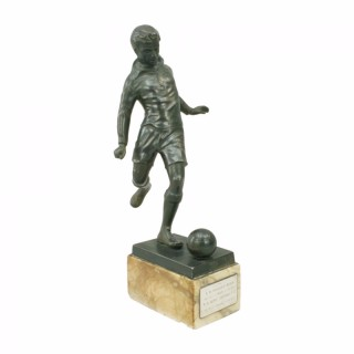Spelter Football Figure
