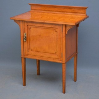 Late Victorian Satinwood Side Cabinet by Maple