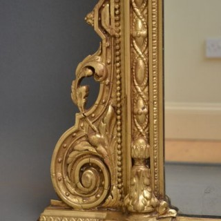 Large Victorian Overmantel Mirror – Gilded Mirror