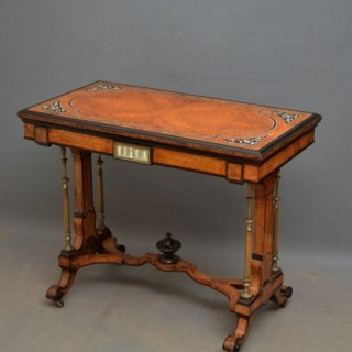 Exquisite Victorian Card Table