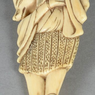 FINE QUALITY JAPANESE EDO PERIOD NETSUKE - KITSUNE ( FOX DISGUISED AS A PRIEST )
