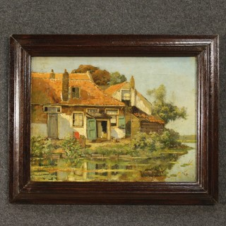 20th Century Signed Landscape Painting