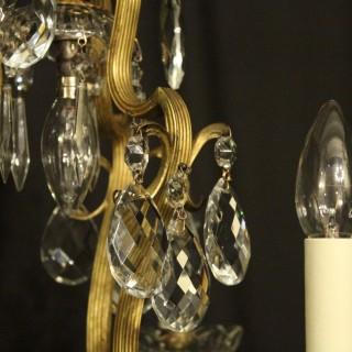 French Birdcage 7 Light Antique Chandelier