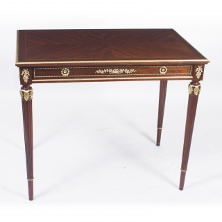 Antique French Ormolu Mounted Flame Mahogany Side Table C1870