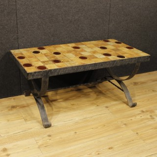 French Design Signed Coffee Table, 20th Century
