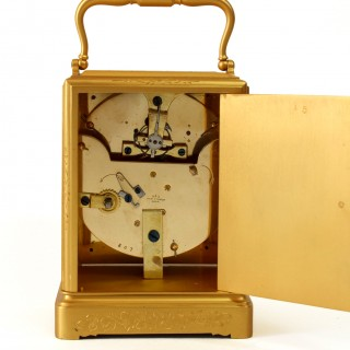 Engraved Carriage Clock with Duplex Escapement