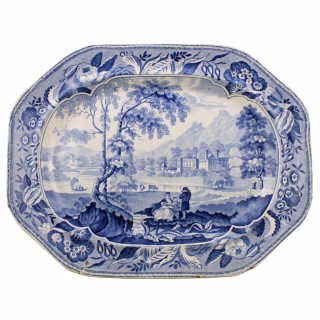 Two 19th Century Blue & White Plates