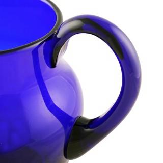 19th Century Bristol Blue Glass Jug