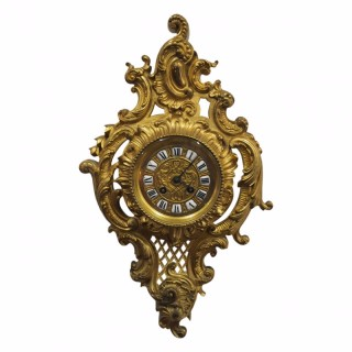 French Ormolu Carte Clock