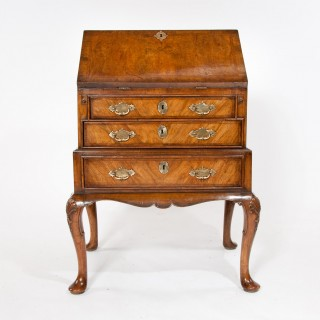 Good Quality Walnut Bureau on Stand