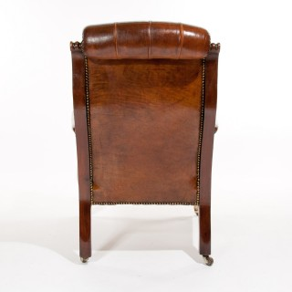 Victorian Mahogany Leather Armchair
