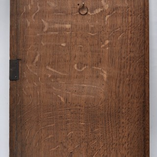 16C oak panel of oak tree and dog