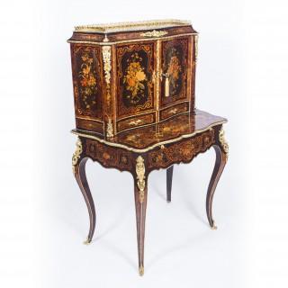 Antique Louis Revival Marquetry Bonheur Du Jour C 1860