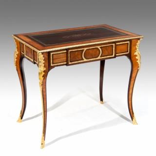 Fine Gilt Ormolu Kingwood Writing Table