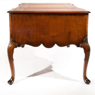 Antique Burr Walnut Partners Writing Desk