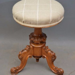 Victorian Height Adjustable Piano Stool