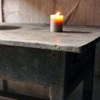 A Scarce 17thC Welsh Oak & Pine Farmhouse Scullery Table c.1640-60