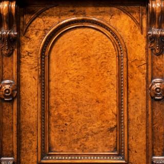 Rare Victorian Pollard Oak Pedestal Sideboard