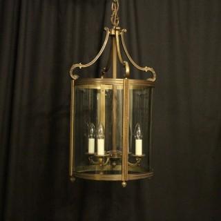 French Gilded Bronze Antique Lantern