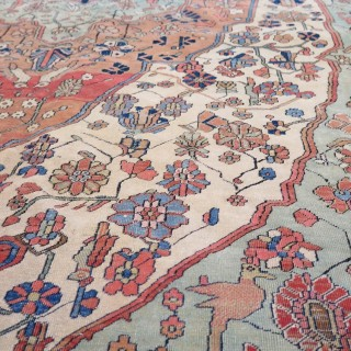 A superb fine Kashan carpet- by master weaver Mohtashem, c.1890
