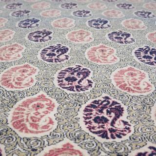 Elegant fine Qum rug, c.1930