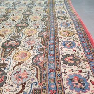 Unusual Qum carpet with a William Morris design, c.1930