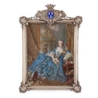 Portrait miniature after Boucher's portrait of Madame de Pompadour