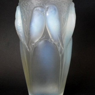 Rene Lalique Opalescent Glass 'Ceylan' Vase
