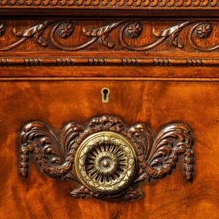 19th Century Maples and Co Mahogany Serpentine Side Cabinet