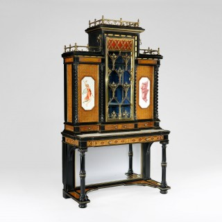Pair of Display Cabinets in the Renaissance Revival Manner