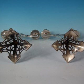 Pair WMF Silver Plated Twin Branch Candelabra