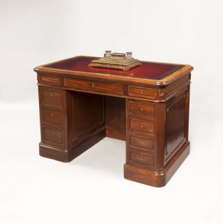 French Mahogany Library Desk
