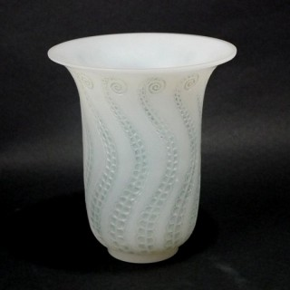 Rene Lalique Opalescent Glass 'Meduse' Vase