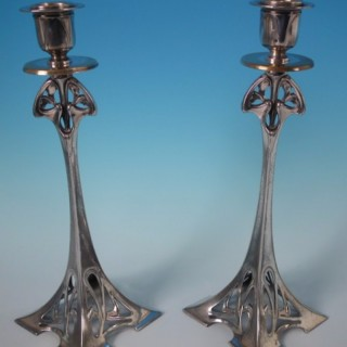 Pair WMF Art Nouveau Candlesticks