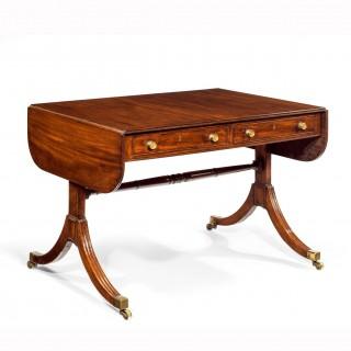Elegant Regency Mahogany Sofa Table