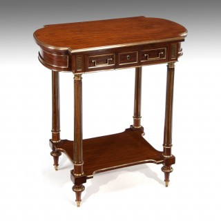 Fine French Mahogany and Brass Occasional – Dressing Table (Table A Ouvrage)