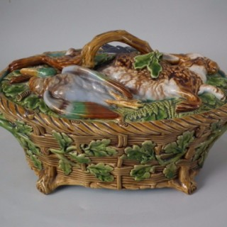 Minton Majolica Mallard Game Pie Dish and Cover