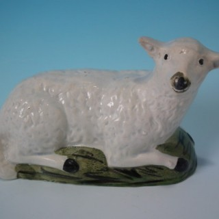 Staffordshire Pearlware sheep figure