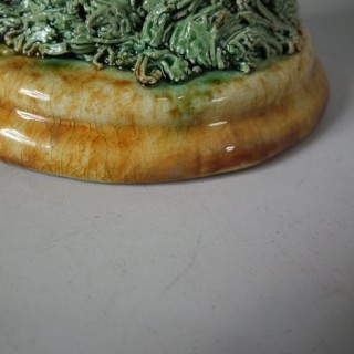 Mafra Majolica Palissy Mouse Candlestick