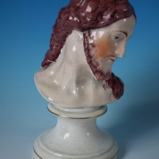 Staffordshire Pottery Jesus Christ Bust
