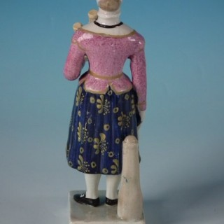 Staffordshire Pearlware Figure of Madame Vestris
