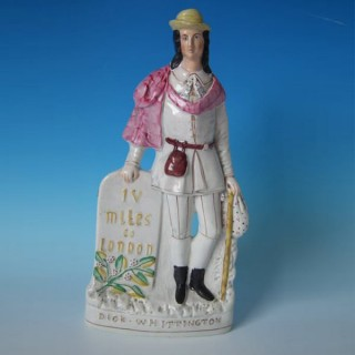 Staffordshire pottery figure 'Dick Whittington'