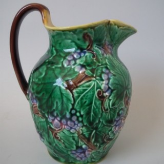Wedgwood Majolica grape vine pitcher