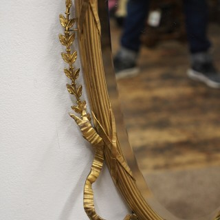Adams Style Large Gilt Framed Wall Mirror
