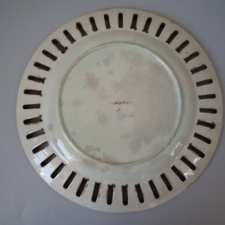 Wedgwood Majolica reticulated pictorial plate
