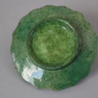 Small Majolica Palissy chestnuts plate