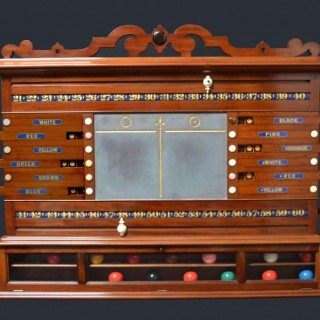 A Billiards, Snooker scoring cabinet of outstanding quality