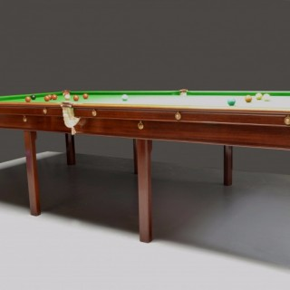 Gillows Billiard or Snooker table 10ft x 5ft circa 1800
